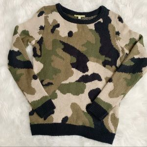 Camo Print Fall Sweater